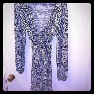 H&M Zebra Stripped Dress